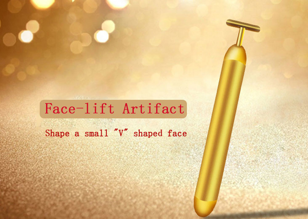 Electric Permanent Makeup Accessories Gold Stick Face Rejuvenating Lifting Firming Stick Massager