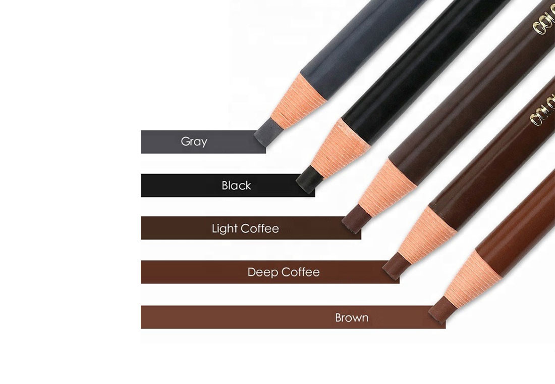 Waterproof Tattoo Eyebrow Liner Pencil / Empty Eyebrow Pencil Pen For Semi Permanent Makeup